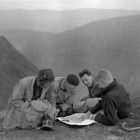 On-top-of-Helvellyn,-striding-edge-in-the-distance_Taken-1936_In-the-photo-Lilian-Douglas-